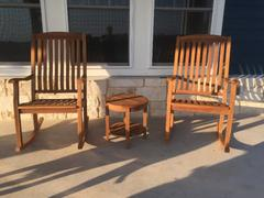 Cambridge Casual Richmond Solid Teak Wood 3 Piece Patio Rocker Conversation Set Review