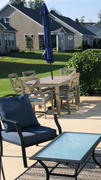 Cambridge Casual Carlota Solid Wood 7 Piece Outdoor Dining Set with Teal Cushion Review