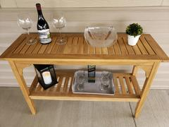 Cambridge Casual Caterina Solid Teak Wood Outdoor Console Table Review