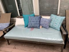 Cambridge Casual Maine Weathered Gray Wood Outdoor Sofa Day Bed with Blue Spruce Cushion Review