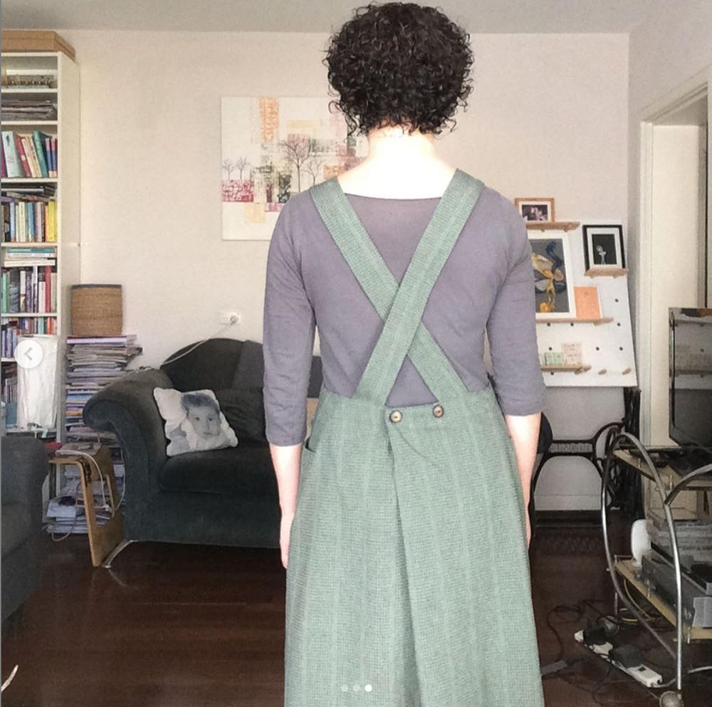 Apron paper sewing pattern Apron Dress Pattern by The Assembly Line