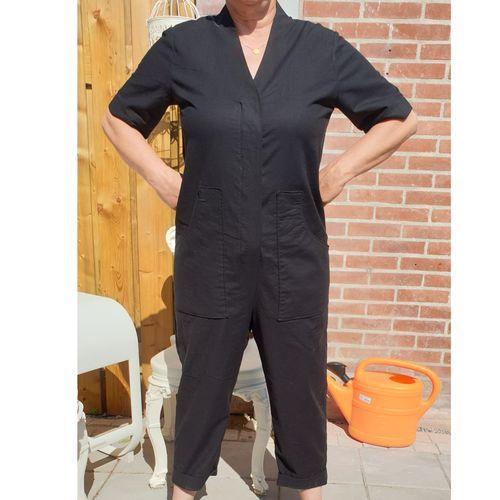V-Neck Jumpsuit Easy Assembly Line Sewing Pattern
