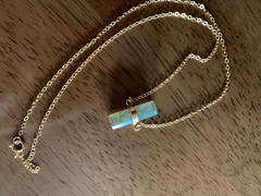 Waffles & Honey Jewelry Roughcut Labradorite Cylinder Necklace Review