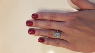 Kobelli Radiant-cut Moissanite Engagement Ring, 3 CTW 14k Gold Review