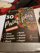 Artistro Acrylic Paint Pens for Rock Painting & more. 28 Colors + Extra Black & White. Extra Fine Tip 0.7mm. Review