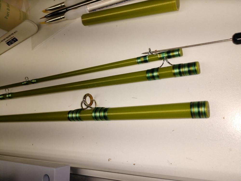 "REEL CASE fits multi piece rods 30/"" FOREST GREEN DARK GREEN FLY ROD"