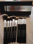 Oscar Charles Oscar Charles Luxe Professional 12 Piece Makeup Brush Set, Silver/Black Review