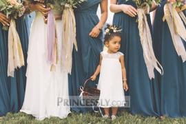 Princessly Beaded Ivory Chiffon Flower Girl Dress Review