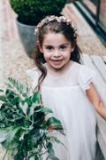 Princessly Ivory Chiffon Ruffle Cap Sleeves Flower Girl Dress Review