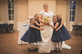 Princessly Navy Blue Sequin Tulle Wedding Flower Girl Dress Review