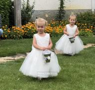 Princessly Ivory Lace Tulle Wedding Flower Girl Dress with Big Bow Review