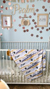 audrey-and-bear Watercolor Rainbow | Swaddle Blanket Review