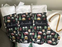 audrey-and-bear Winter Village Navy | Christmas Stocking Review