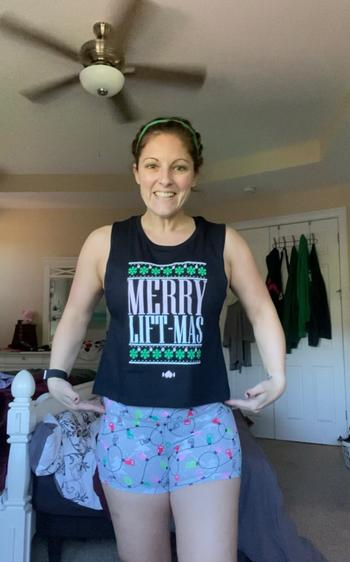 WodBottom Merry Liftmas Muscle Crop Review