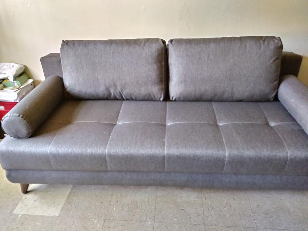 - Stella Diego Dark Gray Convertible Sofa Bed (Queen Sleeper) By