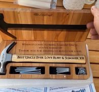 LilyCraft Hammer Gift Set with Wooden Box and Nails. Personalised Engraved Fathers day gift hammer. Luxury Custom Hammer Gift Set for him Review
