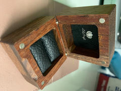 LilyCraft Engagement Ring Box. Wooden Engraved Wedding Proposal Ring Box. Review