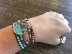 Aria Lattner Hawaiian Ocean Jasper Leather Wrap Bracelet Review