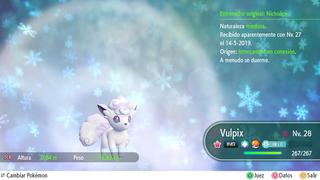 PokéFella Alolan Vulpix • Shiny/non-shiny • Max IVs • Level 27 • Let's Go, Pikachu! & Eevee! Review
