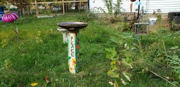 The Birdhouse Chick Peace Pedestal Bird Bath Review