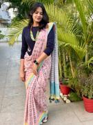 CHHAPA SAREE - Moods in Pastel Blue Review