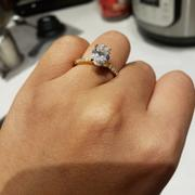 Tiger Gems 2.25 ctw Oval Accented Solitaire Ring - Yellow GP Review