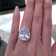 Tiger Gems 10 ctw Hollywood Pear Halo Ring - 40% Final Sale Review