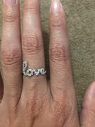 Tiger Gems .2 ctw Love Cursive Ring - 40% Final Sale, Sz 5 - 5 3/4 Review