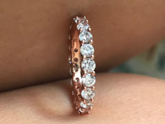Tiger Gems 2 ctw Classic Eternity Band - Rose GP Review