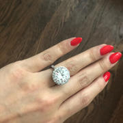 Tiger Gems 14 ctw Classic Glam Halo Ring - 60% Final Sale Review