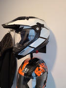 Voss Helmets 601 D2 Dual Sport Helmet - Two Tone Stealth Spectrum Review