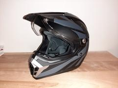 Voss Helmets 600 Dually Dual Sport Helmet - Gloss White Shark Fin Review