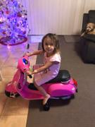 Kids Car Sales Kids Ride On 6v Vespa Scooter with Balance Wheels - Pink Review