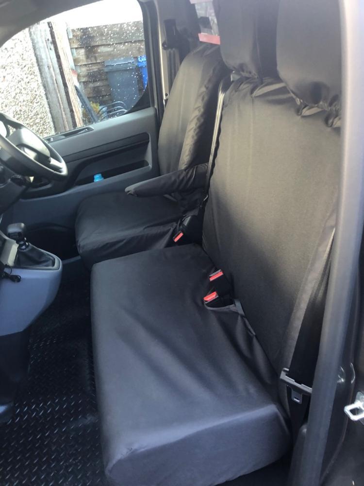 Vauxhall Vivaro LWB High Roof SINGLE DRIVERS VAN SEAT COVER GREY WATERPROOF