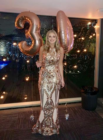 Dress for a Night TINAHOLY Amelia Gown Rose Gold (T1868) - RRP $460 Review