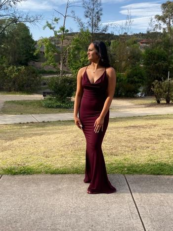 Dress for a Night NOOKIE Hustle Maxi (Merlot) - RRP $239 - L / 4-days Review
