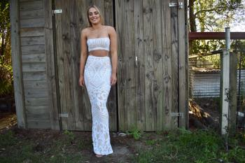 Dress for a Night NOOKIE Mon Cherie  Two Piece Gown (White)- RRP $458 Review