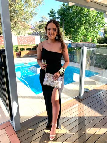 Dress for a Night NOOKIE Lust One Shoulder Gown (Black) - RRP $289 - M / 8-days Review