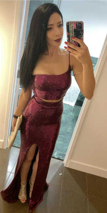 Dress for a Night NOOKIE Siren Sequin Two Piece (Ruby)- RRP $428 - S / 4-days Review