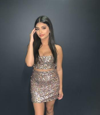 Dress for a Night NOOKIE Confetti Sequin Two Piece (Candy) - RRP $339 Review