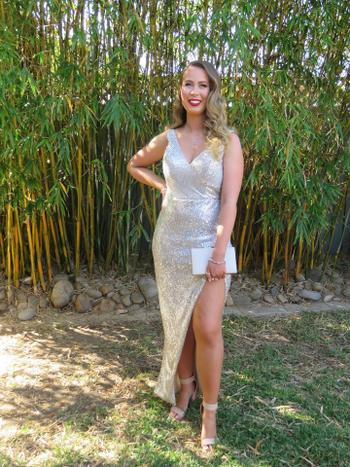 Dress for a Night TINAHOLY Adele Gown TA007 (Champagne Silver)- RRP $380 Review