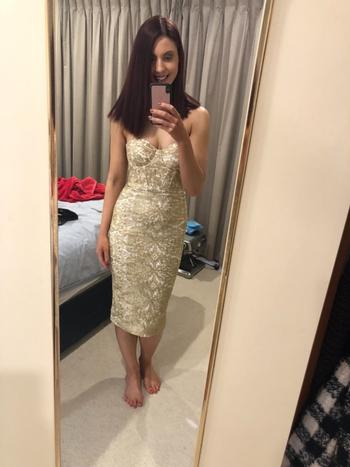 Dress for a Night ELLE ZEITOUNE Jayce Gold Dress - RRP $310.00 - 8 / 4-days Review