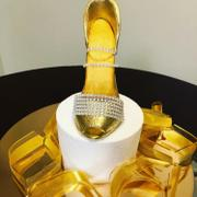 CaljavaOnline Gold Polka Dot Glam Ribbon - Cake Wrap Review