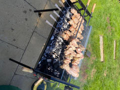 Cyprus BBQ Modern Greek Cypriot Foukou Rotisserie Charcoal Large BBQ |  Black Review