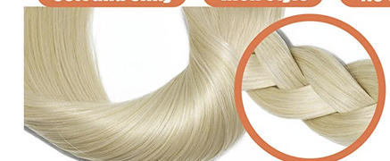 AmazingBeautyHair 120G Platinum Blonde 60# Clip in Hair Extensions Review