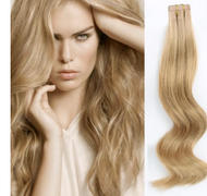 AmazingBeautyHair Tape In Hair Extensions #12 Golden Brown Review