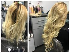 AmazingBeautyHair Tape In Hair Extension P #12/#60 Dark Dirty Blonde Highlights Ash Blonde Review