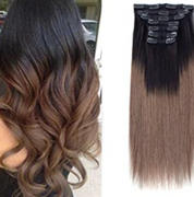 AmazingBeautyHair 120G Ombre T2/6# Clip In Hair Extensions Review
