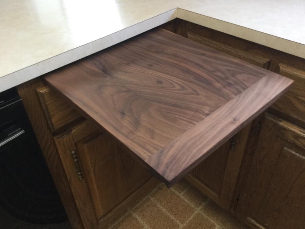 Custom Walnut Pull Out Cutting Board