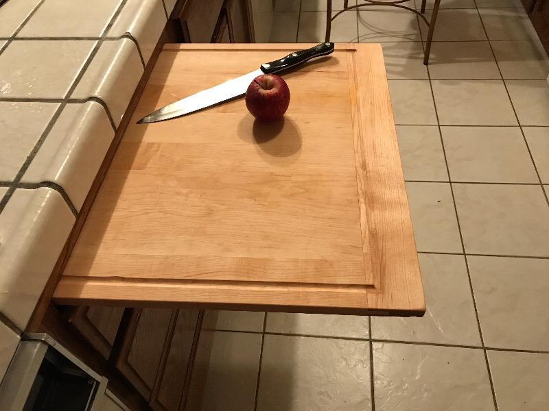 Custom Maple Pull Out Cutting Board